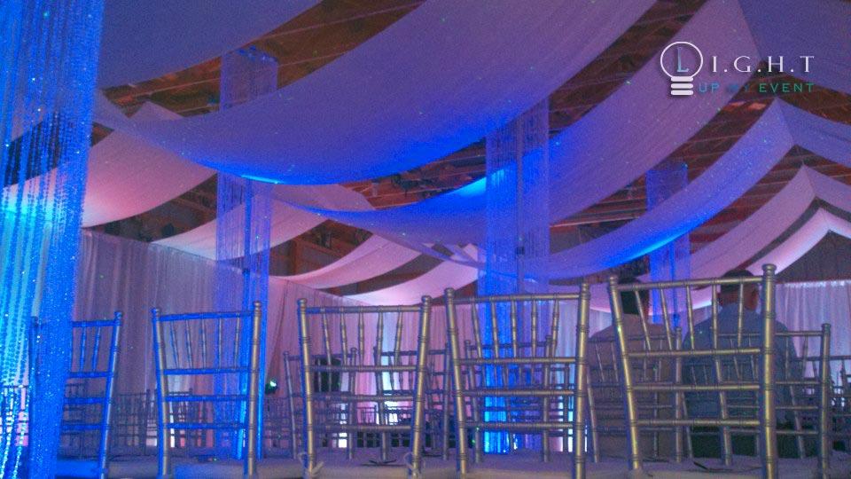 Michigan Drapery Pipe Drape Fabric Backdrop For Ceilings
